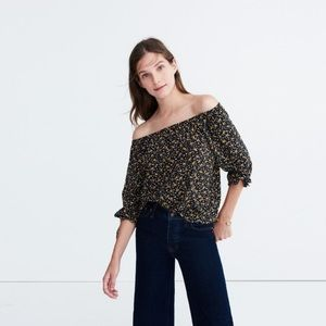 Madewell off the shoulder silk top size M